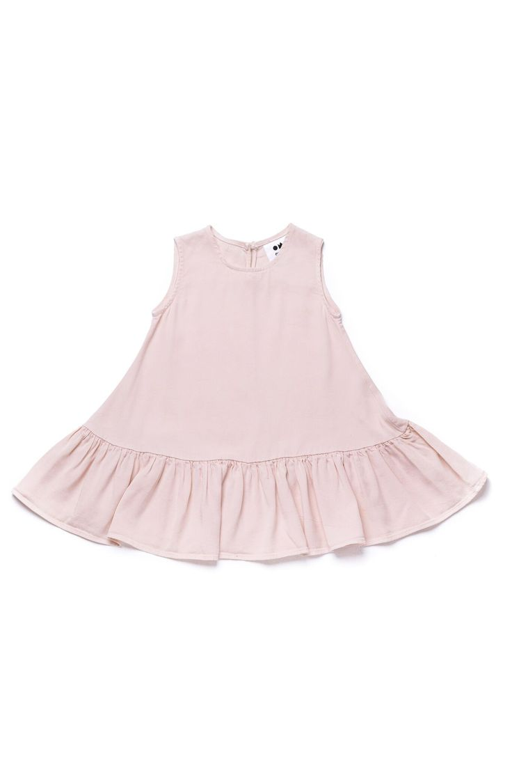 Girls Tent Dress with Ruffle | Pink OM267