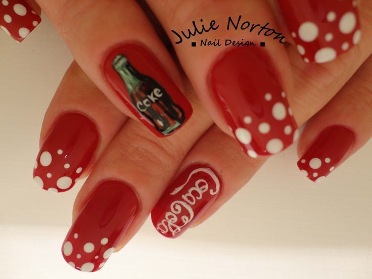 33 best coca cola nails images on pinterest hairstyles beauty coca cola nail designs via julie norton prinsesfo Gallery
