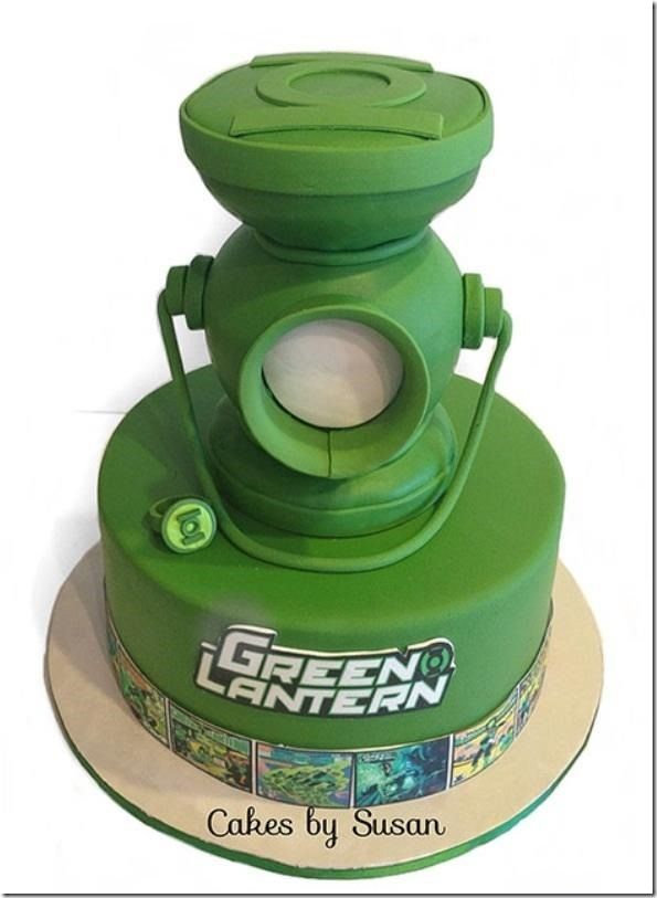 Great Green Lantern Groom's Cake made by Cakes by Susan
