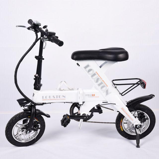 12 inch электрический складной велосипед мини-Передние и задние дисковые тормоза складной велосипед Свет электрический велосипед умный электрический велосипед
