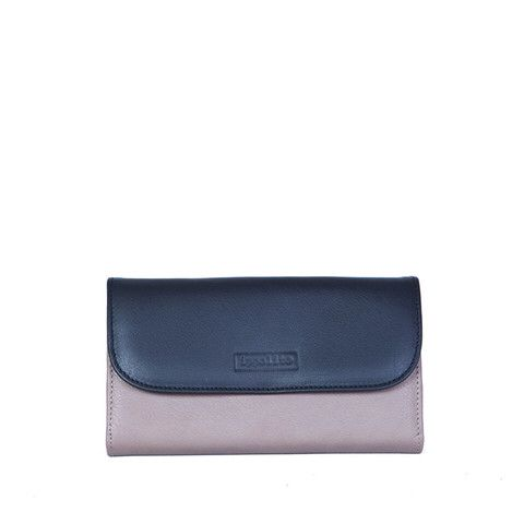 Zaira Wallet in Taupe, Black & Aubergine (Interior)