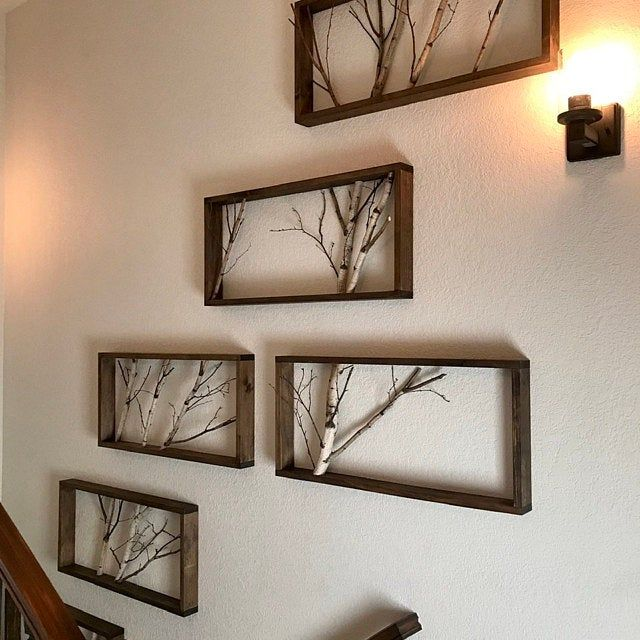 White Birch Forest Wall Art 30 X 12 Birch Branch Decor Etsy In 2020 Forest Wall Art Rustic Wall Art Branch Decor