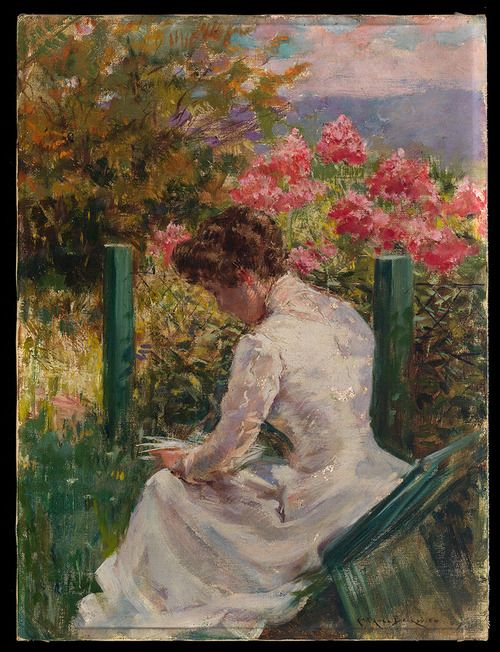James Carroll Beckwith (American, 1852-1917), Mrs. Clifford Richardson Reading, late 1880s.