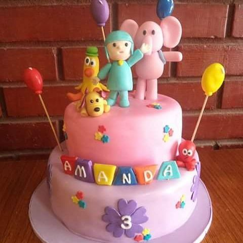 #Pocoyo #Friends #fondant #cake by Volován Productos  #instacake #Chile #puq #VolovanProductos #Cakes #Cakestagram  #lula #pato #ely