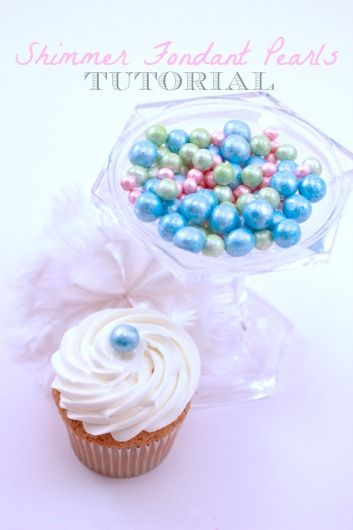 How To Make Shimmer Fondant Pearls