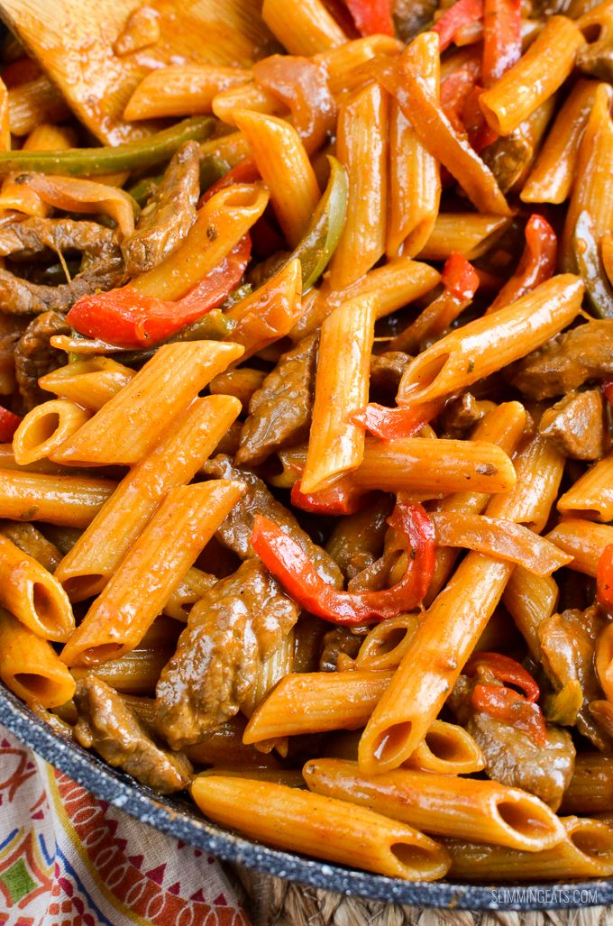 Slimming eats syn free one pot beef fajita pasta Slimming world recipes for 1 person