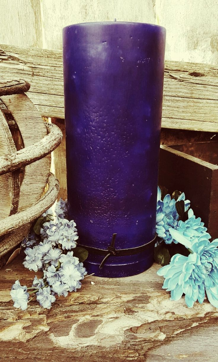 Deep Purple Haze  4 x 9.5 large Pillar candle with a Exotic Plumeria/Lilac scent by TopangaRusticCandles on Etsy https://www.etsy.com/au/listing/255503383/deep-purple-haze-4-x-95-large-pillar