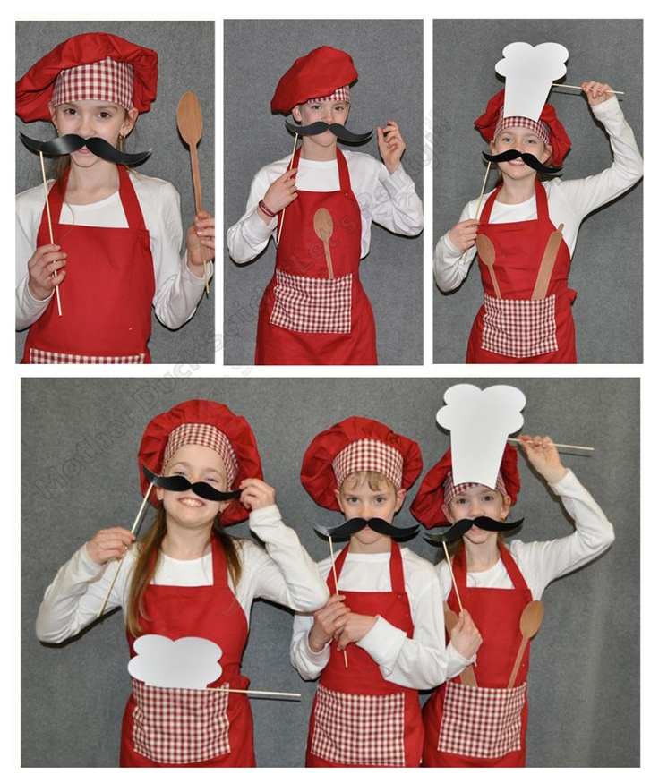 "Masterchef Party Photo Booth Chef Photo Props    Mother Duck Said: ""Lets Party!"""
