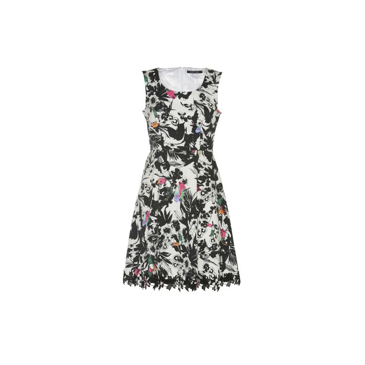 """Naughty Dog mini dress made of stretch cotton, decorated with our SS16 """"Tahiti"""" floral print"""