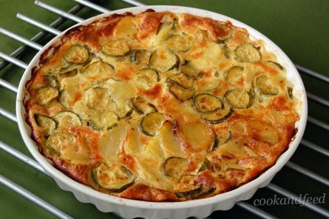 Zucchini And Potato Tart