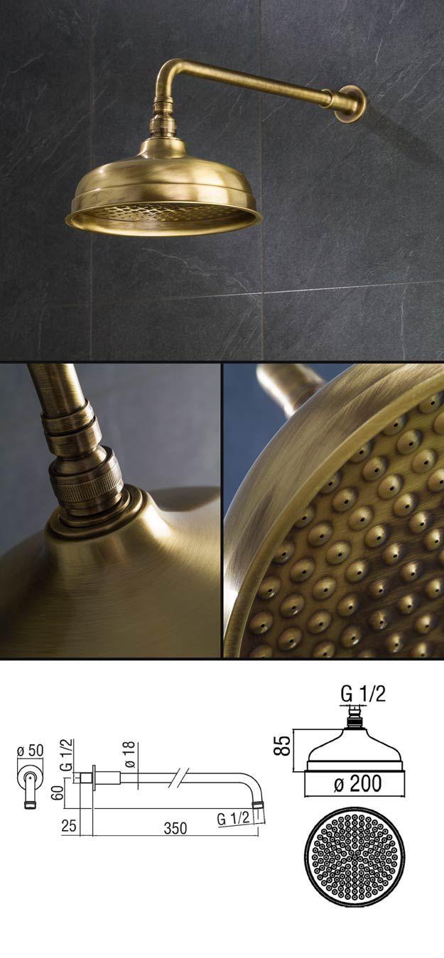 Tadelakt bathroom made by amel kadic - Brass Shower Heads Wall Mounted And Fixed