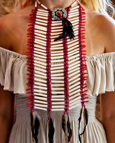 Indian Breastplate - Medium Pink - $39