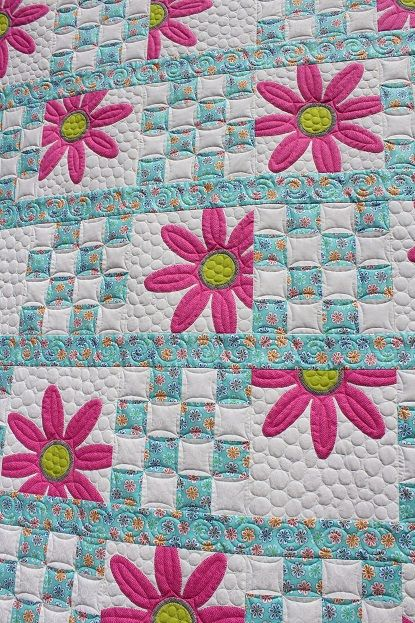 This is Lorna's Doo Da Daisy  quilt and the pattern is by Amy Bradley. This is the first of two she brought me and I have the second o...
