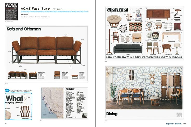 Stylish and Casual // Furniture Catalog: Layout Style Series - Men's Style