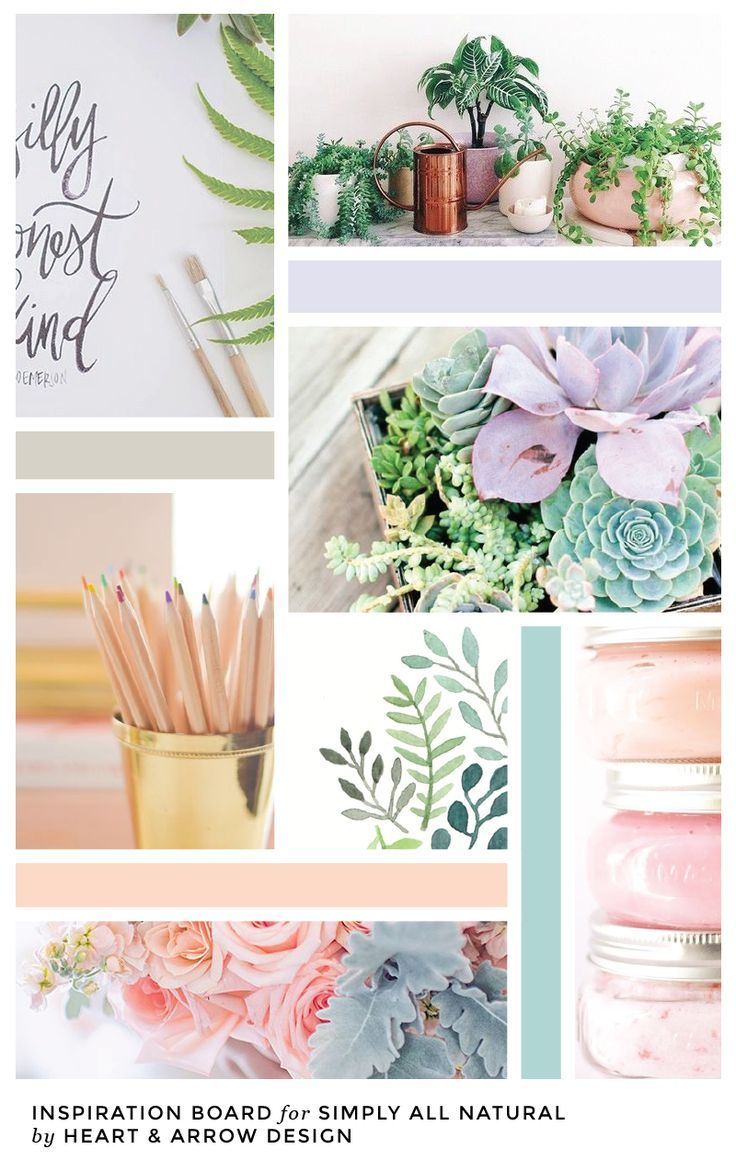 Organic inspired color board // by Heart & Arrow