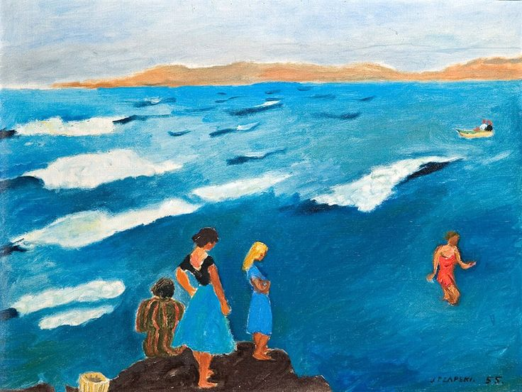 Jozef Czapski - Blue Sea 1955