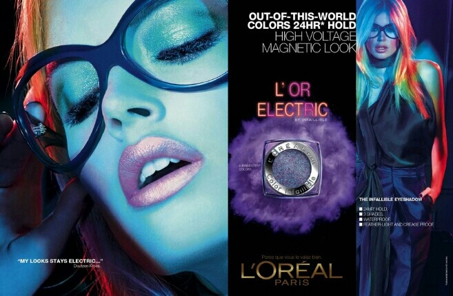 "DOUBTZEN KROES FOR L'OREAL 2013 ""L'OR ELECTRIC"""
