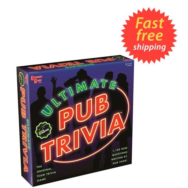 Ultimate Pub Trivia Board Game, The Original Team Trivia Game FAST FREE SHIPPING #UNIVERSITYGAMES