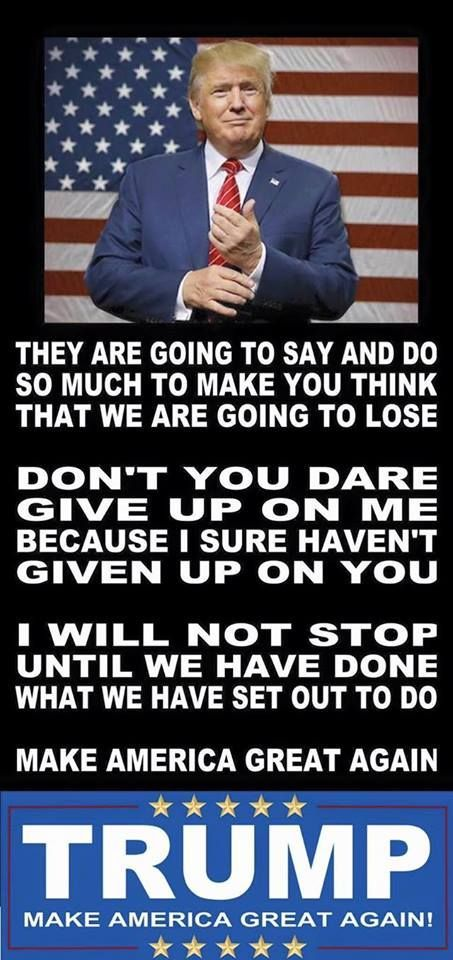 THE MAIN MAN=HOLDING THE FORT DOWN FOR ALL AMERICANS. STAND YOUR GROUND, AND DON'T GIVE IN TO THE CRONIES......AMEN TRUMP WE ABSOLUTELY LOVE YOU!!!!