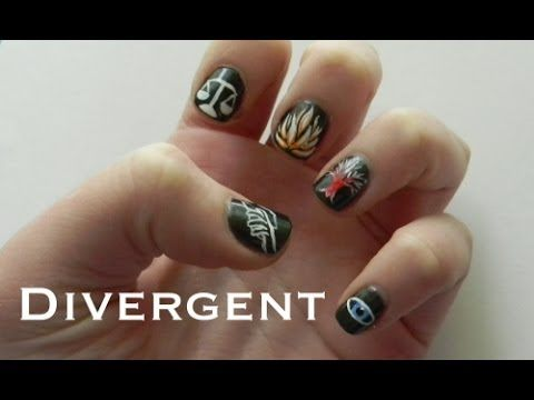The 25 best divergent nails ideas on pinterest bird nail art divergent nail art tutorial youtube prinsesfo Image collections