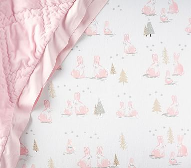Winter Animal Flannel Fitted Crib Sheet Crib Sheets Girl