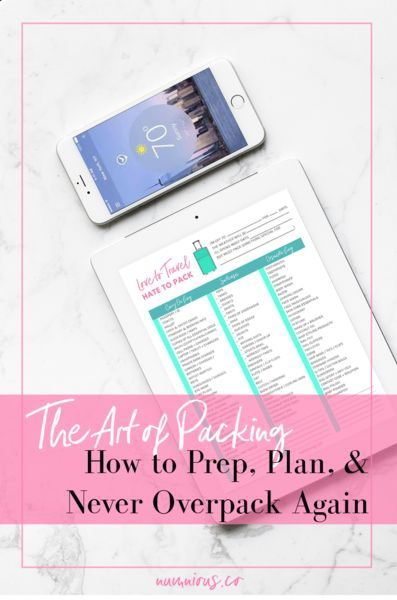 The Art of Packing - Prep Plan & Never Overpack Again | Numinous.co