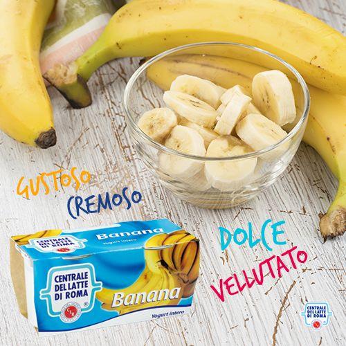 Il nostro #yogurt intero alla #banana è vellutato e cremoso, con un sapore dolce e gustoso! http://www.centralelattediroma.it/prodotti/yogurt-intero-banana/