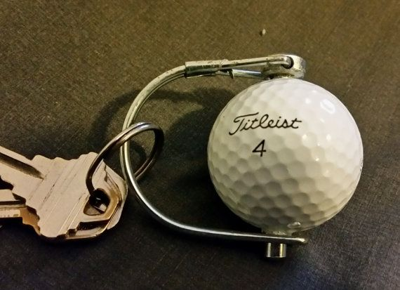Real Titleist 1 Pro V1 Golf Ball Keychain Recycled by DirtHouse