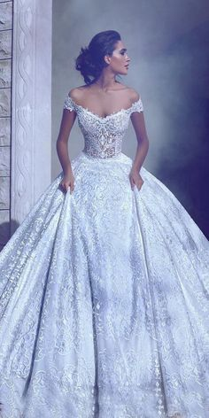 15 Wedding Dresses 2018 From Top Designers ❤ wedding dresses 2018 ball gown off the shoulder floral embroidered thtouma jean couture ❤ Full gallery: https://weddingdressesguide.com/wedding-dresses-2018/ #bridalgown #weddingdresses2018