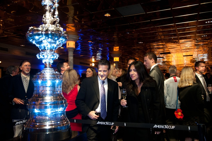 crew party in San Diego featuring the America's Cup Trophy (photo: Gilles Martin- Raget / ACEA / www.americascup.com): Trophy Photos
