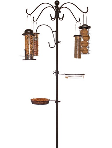 Chapelwood Four-Way Dining Station Head, Birding Pole Topper, Bird Feeder Pole 4-Way Hanger at Songbird Garden