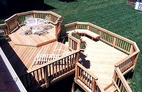 Large Two Level Wood deck