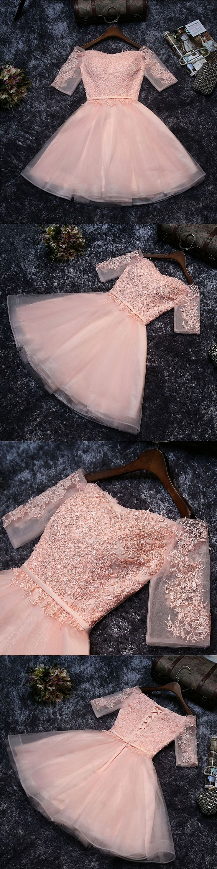of girl | Cute lace tulle A line short prom dress, lace homecoming dresses | Online Store Powered by Storenvy
