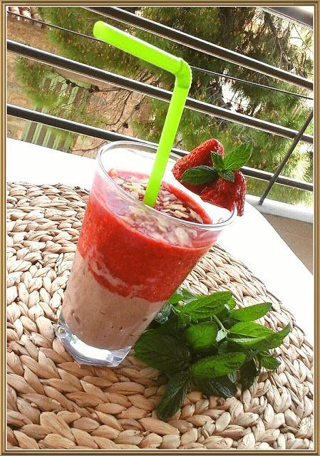 Βουτυρόμελο: ♡Smoothie με φράουλες και κακάο♡