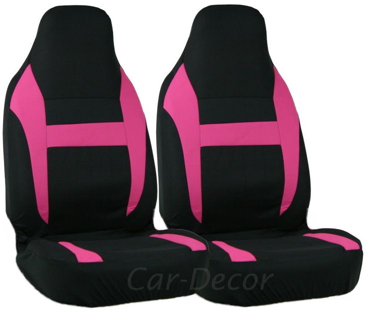 Pink Black Auto Seat Cover High Back Girly Car Accessory