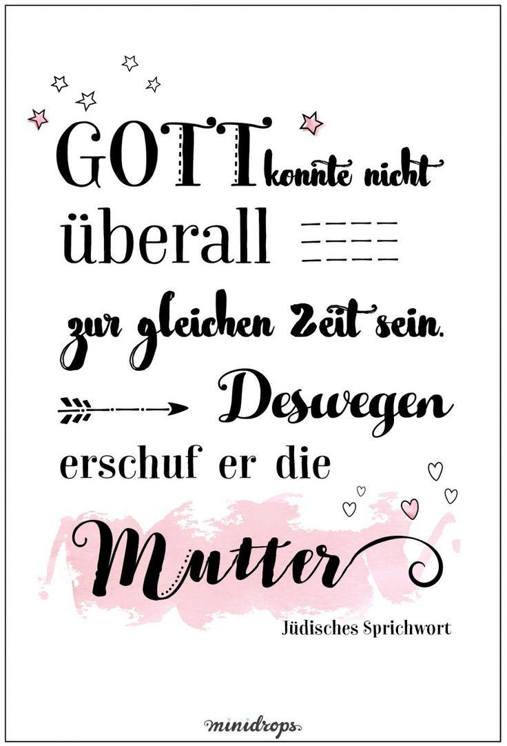 Ein Hoch auf die Mütter! #Muttertag #Spruch #Ideen #Minidrops