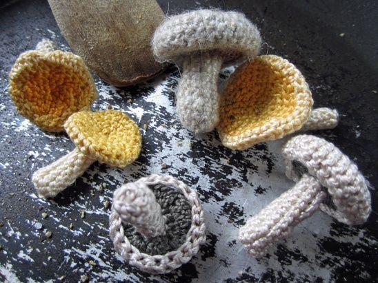 DIY Simple Crochet Mushrooms