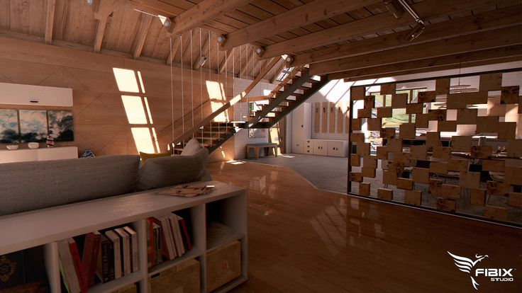 It's my older project made last year. Actually it's not finished, so here are pictures just from interior. Real-time rendered in Fibix Editor.