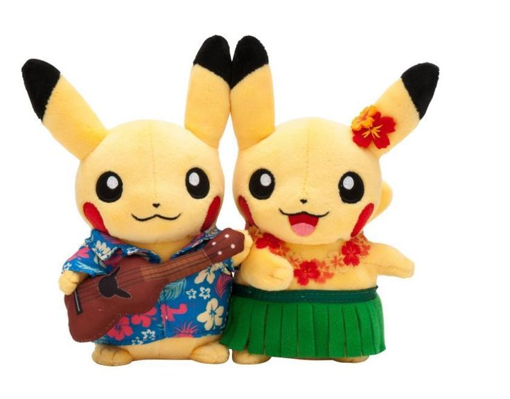 Pokemon Center Original Monthly Pair Pikachu Plush hula 2016 August