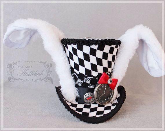White rabbit top hat