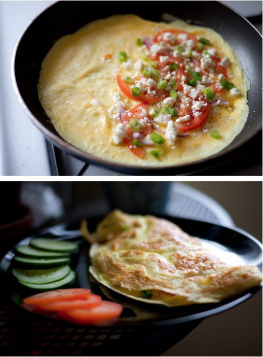 Eggs With Scallions And Tomatoes Recipes — Dishmaps