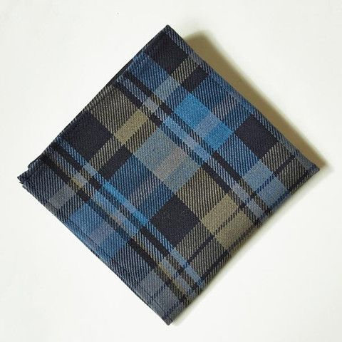 Mens Cotton Pocket Square - Plaid Abstract by VIDA VIDA MAwOzvdM
