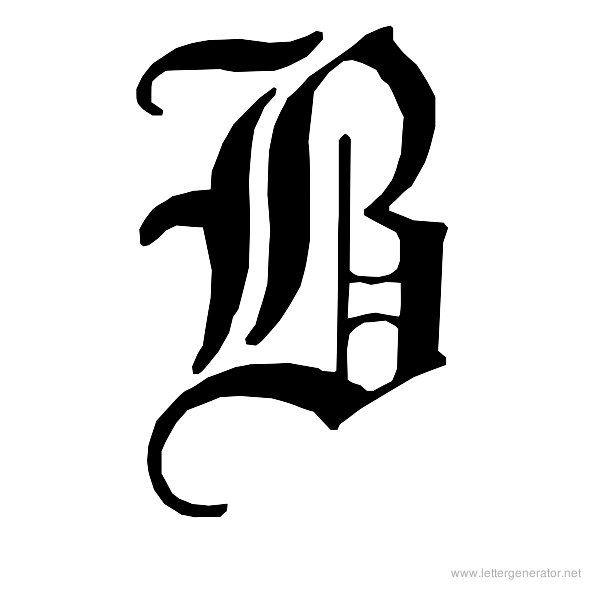 English Gothic Font Alphabet B | Old english alphabet ...
