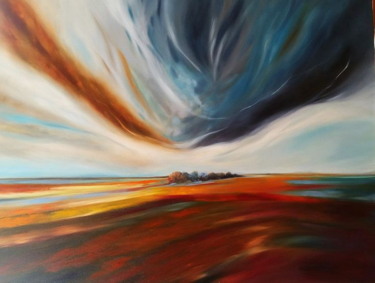 BIG SKY  Oil on stretched canvas  90cm x 120cm  Barbara Becker