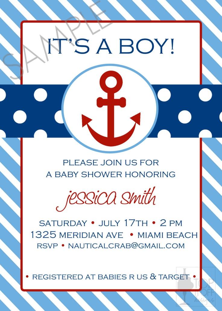 Nautical Baby Shower DIGITAL Invitation