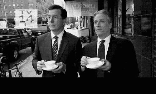 Stephen Colbert and Jon Stewart. Love these guys!