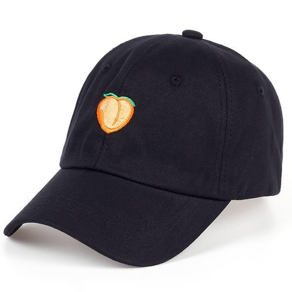peach hat, peach cap, embroidery, peach embroidery, tumblr cap, tumbler hat