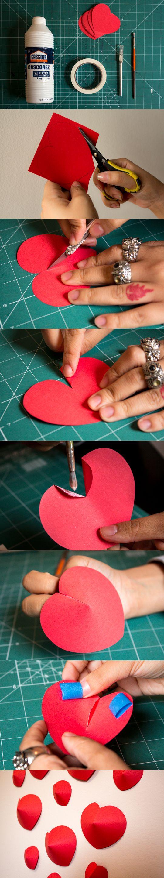 Como Fazer - Corações 3D