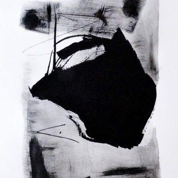 Original Painting. Acrylic ink on paper .Modern contemporary art. Abstract. Modern house art. Loft decor. wall decor.