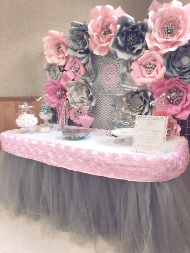 Paper Flower Backdrops for Birthday Wedding BabyShower celebration candy table Decoration